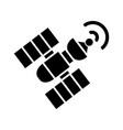 sattelite icon black sign on vector image
