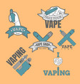 set of different vaping logotypes colored on vector image vector image