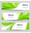 Set of Green Curved Lines Backgrounds Banners and vector image vector image