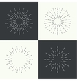 Set of vintage hipster banners insignias radial vector image vector image