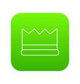 silver crown icon green vector image vector image
