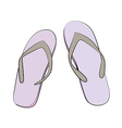 Slipper vector image