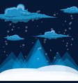 snow and alps design vector image