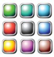square buttons set vector image vector image