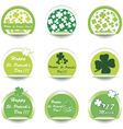 st patricks day stickers vector image