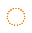 stars in circle shape idea of vector image vector image