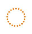 stars in circle shape idea vector image