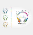 stylized image of headphone vector image vector image