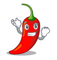 successful character red chili pepper for vector image vector image