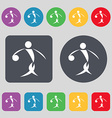Summer sports basketball icon sign A set of 12 vector image vector image
