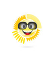 sun shine with sunglasses vector image vector image