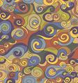 Vintage curls pattern vector image