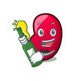 with beer jelly bean mascot cartoon vector image