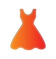 Woman dress sign Orange applique isolated vector image vector image
