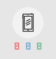 set of smartphone web icons banner vector image
