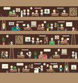 seamless office concept coworking space people vector image