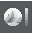 Mountain polygon in the low poly-style vector image