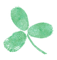 Shamrock fingerprint icon vector | Price: 1 Credit (USD $1)