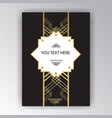 art deco page template vector image