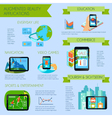 Augmented Reality Infographic Set vector image vector image