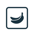 banana icon Rounded squares button vector image
