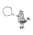 bird with speech bubble vector image vector image