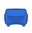 boxing helmet blue boxer mask isolated spor vector image