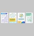 business development brochure template layout vector image vector image
