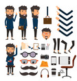 business man in hipster style character with vector image vector image