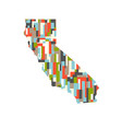 california state abstract rectangular color vector image vector image