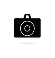 camera shutter icon in black color art vector image