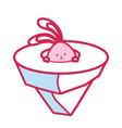 cartoon cute rabbit icon vector image vector image