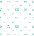 cartoon icons pattern seamless white background vector image vector image