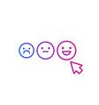 client satisfaction happy customer vector image vector image