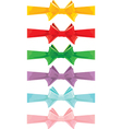 Color bow set 380 vector image