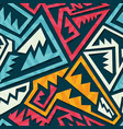colored tribal pattern vector image vector image
