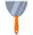 colorful cartoon whide metal spatula vector image