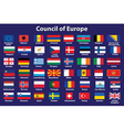 Council of Europe flags vector image