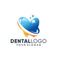 creative dental clinic logo vector image