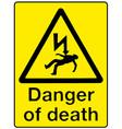 danger of death vector image