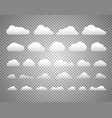 different clouds isolated on transparent vector image