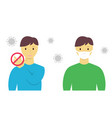 dont touch your face and wear protective mask vector image vector image