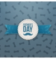 Fathers Day Banner with Ribbon and Text vector image vector image