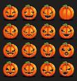 flat design halloween pumpkin decoration scary vector image vector image