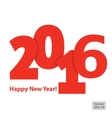 Flat red numbers on a white background Happy New vector image vector image