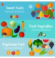 Food banners in flat style vector image vector image
