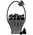 fruit basket vector image vector image