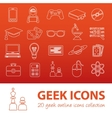 geek outline icons vector image vector image