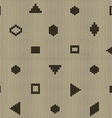 Geometric knitted seamless pattern vector image