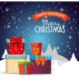 happy holidays merry christmas cute gifts vector image
